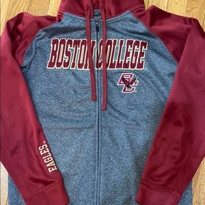 Champion Boston College zip up hoodie medium